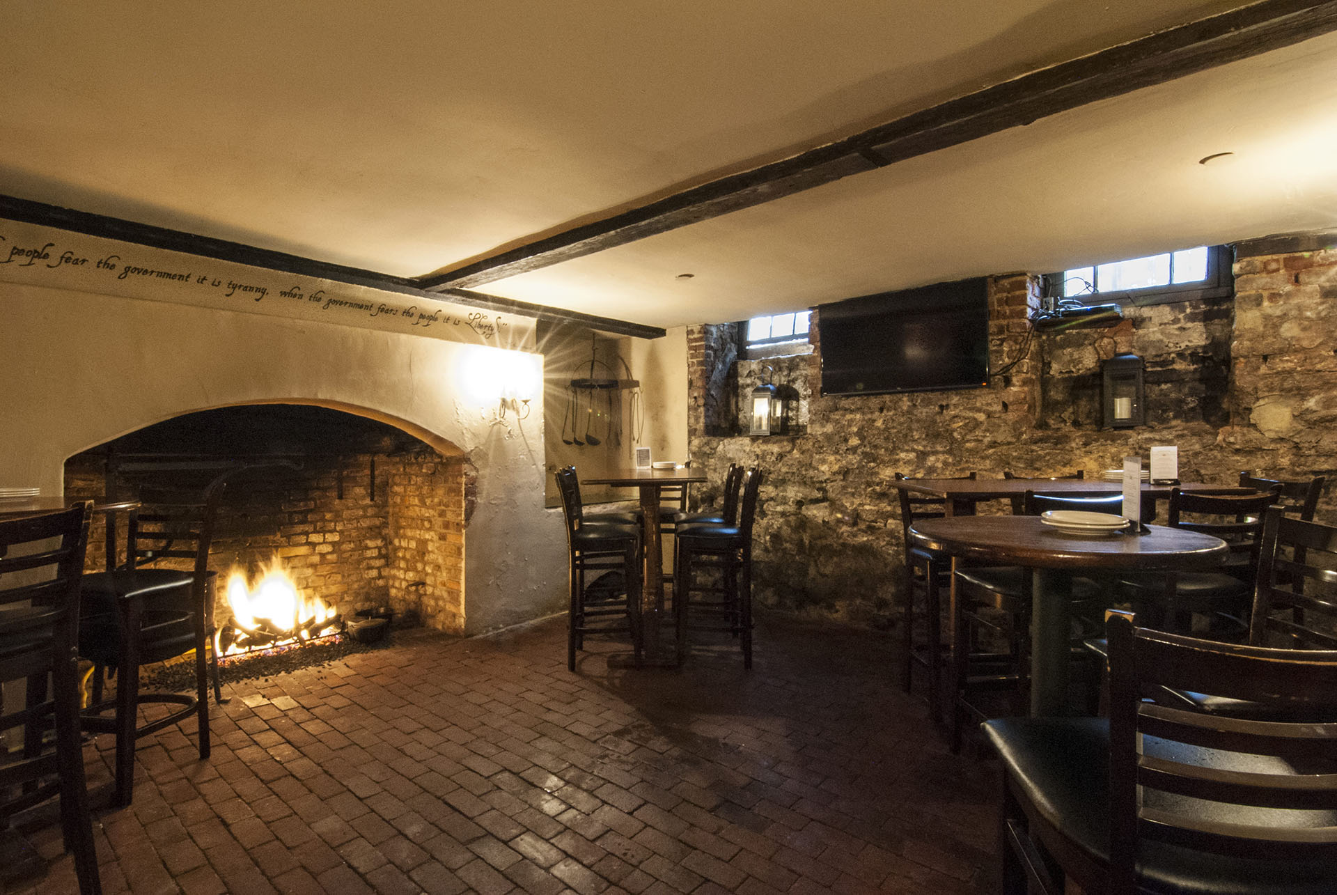 Reynold s tavern fireplace - 1747 Pub