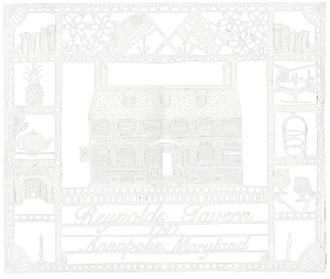 reynolds tavern papercut 300x253 - Dinner Menu